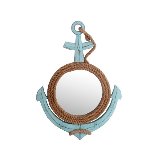 Sea Blue Coastal Anchor Mirror