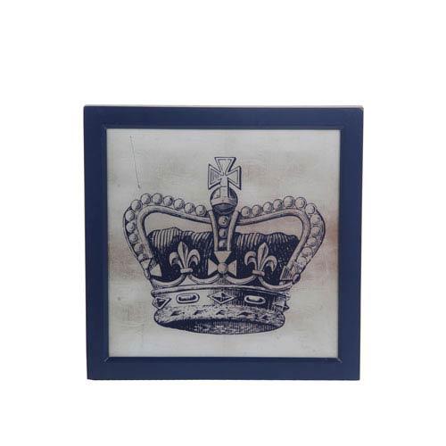 Gray Crown IV: 18 x 18-Inch Wall Art