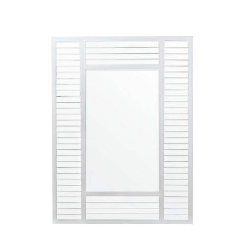 White Shutter Rectangular Mirror