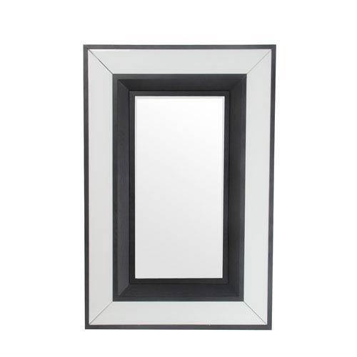 Black and White Rectangular Accent Mirror