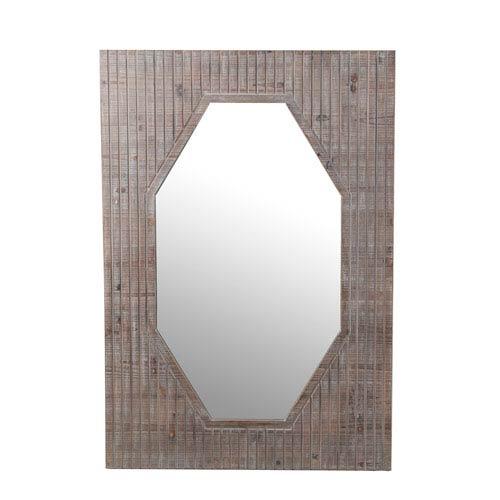 Privilege Wooden Rectangular Mirror