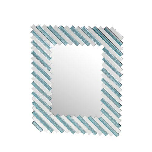 Blue and Clear Decorative Mirror