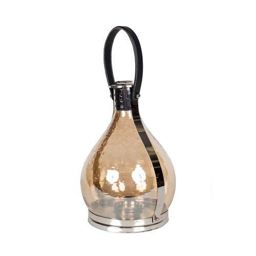 Nickel 17-Inch Tall Aluminum Lantern