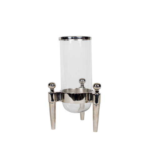 Nickel 27-Inch Tall Aluminum Lantern