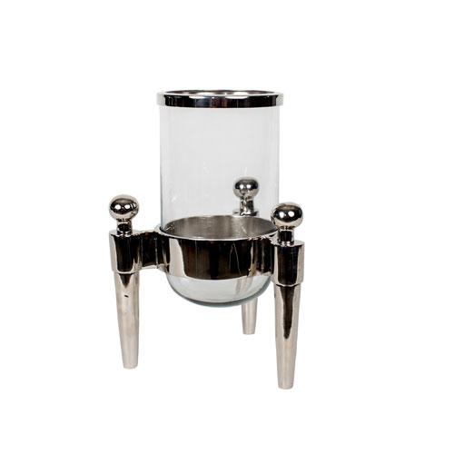 Nickel 20-Inch Tall Aluminum Lantern
