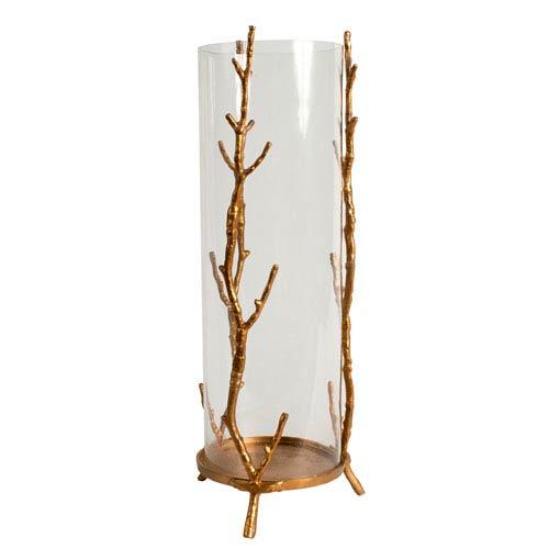 Large Gold Aluminum Candle Holder