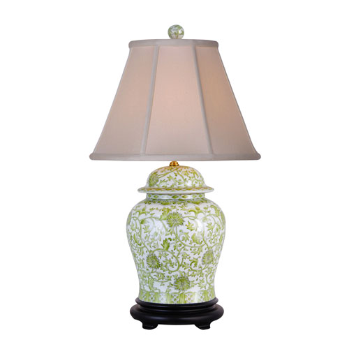 Lemon Grass One-Light Porcelain Jar Table Lamp