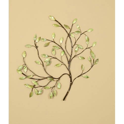 Pport By Mario Oil Rubbed Bronze Green Leaves Wall Sculpture