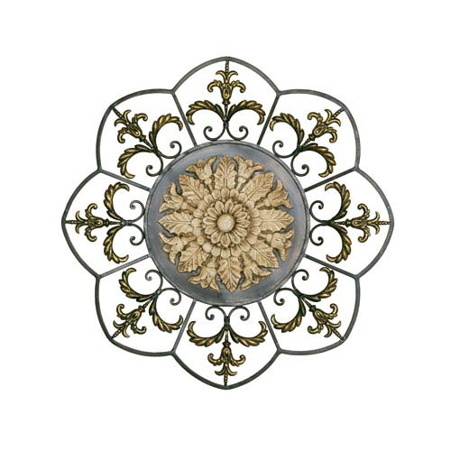 Antiqued Ivory Medallion Wall Art
