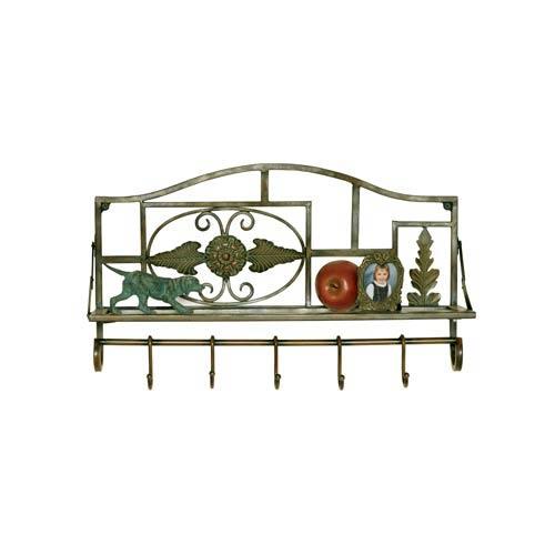 Bronzed Metals Metal Shelf