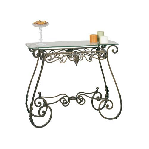 Bronzed Perugia Console Table