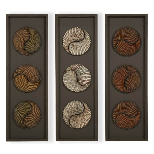 Three Panel Shadow Box Wall Art