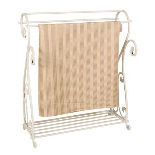 Whitewash Metal Quilt Rack