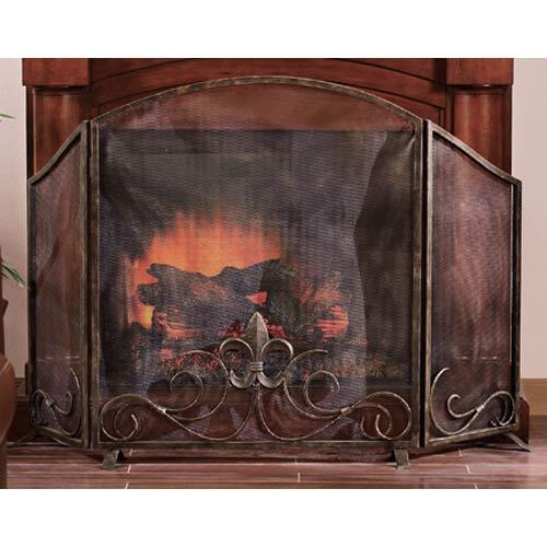 SPI Home Fleur De Lis Fireplace Screen
