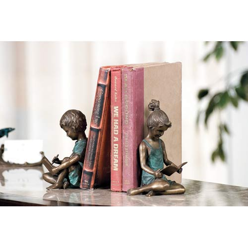 Boy and Girl Bookends Pair