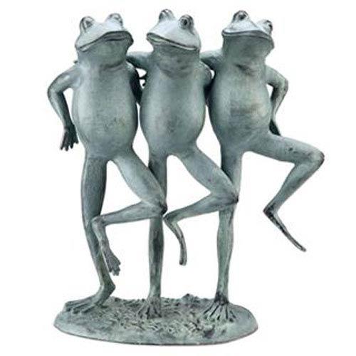 SPI Home Verde Green Dancing Frog Trio Decorative Object