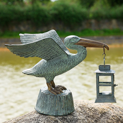 Verde Green Pelican Lantern