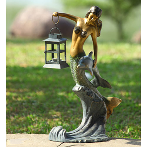 Verde Green and Gold Mermaid Lantern