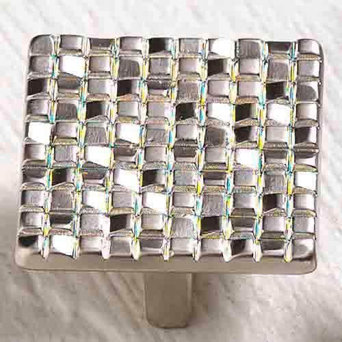 Italian Designs Group-Mosaic Satin Nickel Square Knob