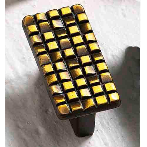 Italian Designs Group-Mosaic French Antique Bronze Rectangle Knob