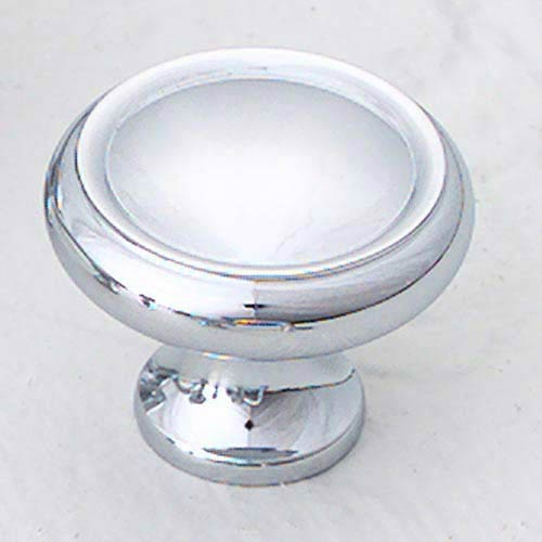 Traditional Designs Polished Chrome Circle Knob