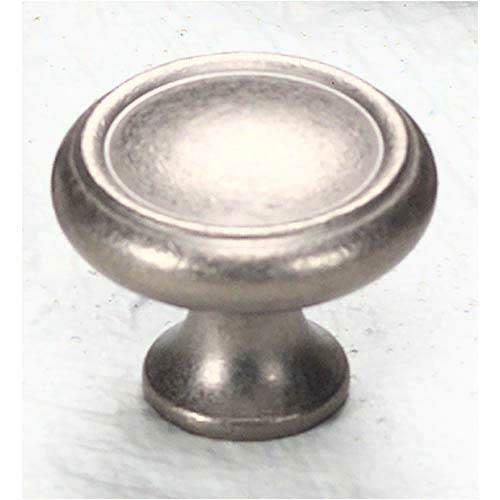 Traditional Designs Distressed Nickel Circle Knob