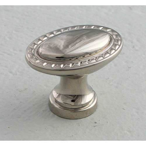 Montcalm Polished Nickel Oval Knob