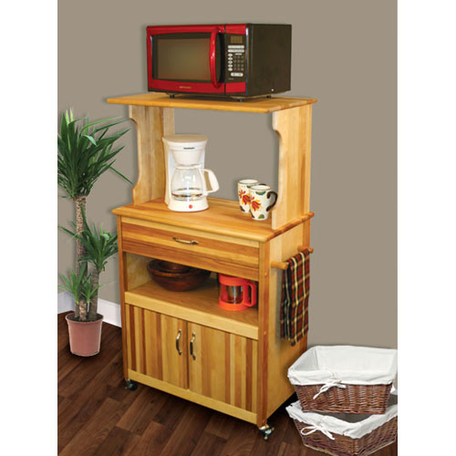 Catskill Craftsmen, Inc. Microwave Cart with Open/Enclosed Storage