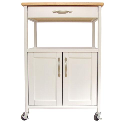 Catskill Craftsmen, Inc. White Kitchen Trolley