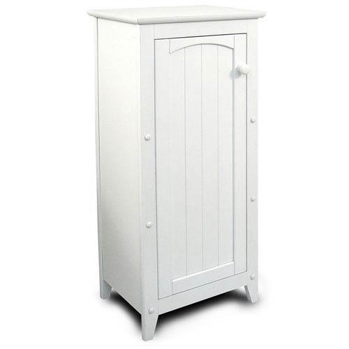 White Single Door Cabinet