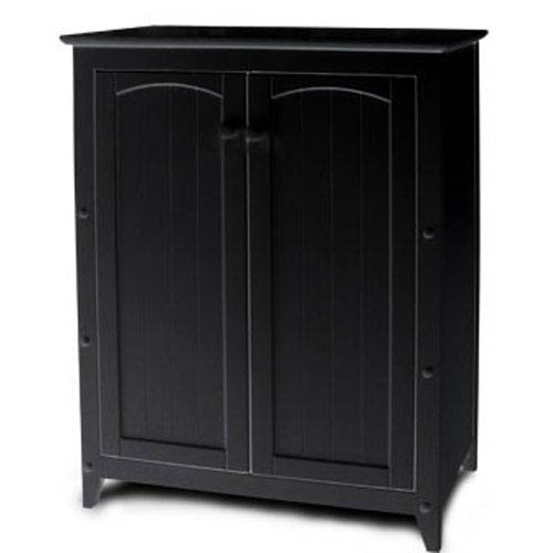 Black Double Door Cabinet