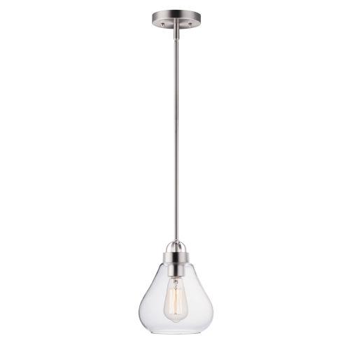 Dianne Satin Nickel Eight-Inch One-Light Adjustable Mini Pendant
