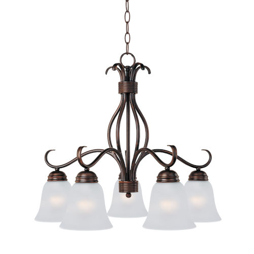 Basix Oil Rubbed Bronze Five-Light Down Light Chandelier