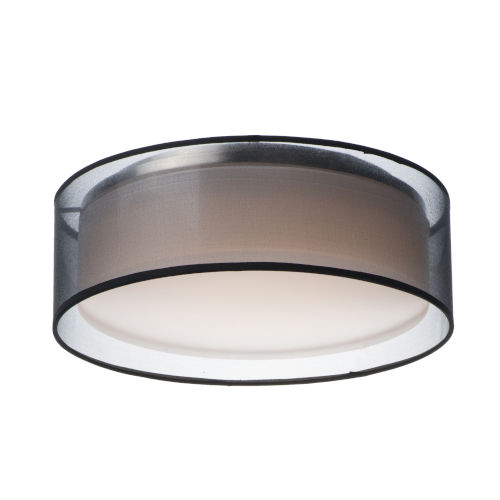Prime Black 16-Inch Three-Light LED Flush Mount