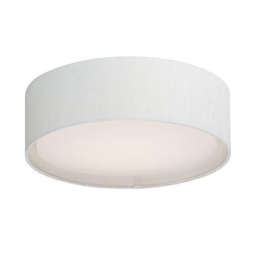 Prime White 16-Inch Three-Light LED Flush Mount
