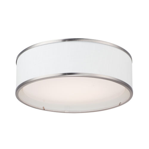 Prime Satin Nickel 16-Inch Three-Light LED Flush Mount