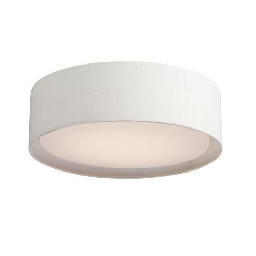Prime White 16-Inch LED Flush Mount