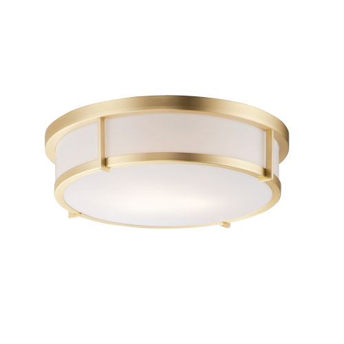 Rogue Satin Brass Three-Light Flush Mount