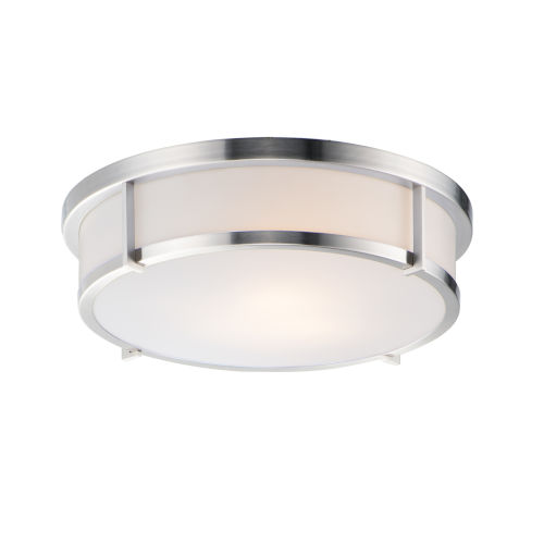 Rogue Satin Nickel Three-Light Flush Mount