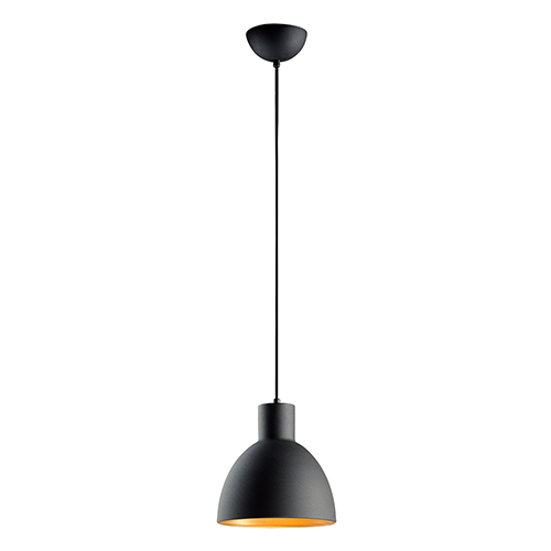 Cora Black and Gold Eight-Inch One-Light Pendant