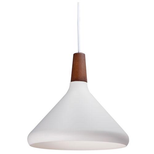 Nordic Walnut and White LED Single Pendant