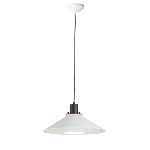 Oslo Black and White One-Light 8-Inch Pendant