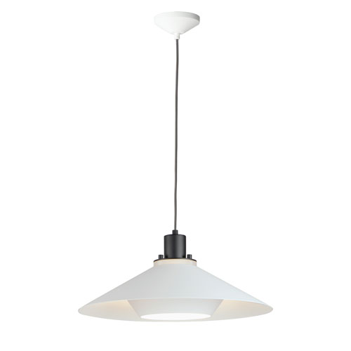 Oslo Black and White One-Light 9-Inch Pendant
