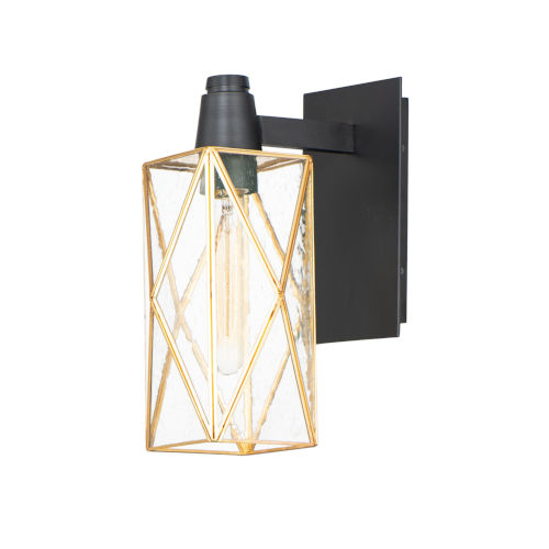 Norfolk Black and Burnished Brass One-Light Outdoor Wall Mount