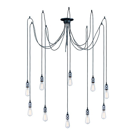 Swagger Polished Chrome 41-Inch 10-Light Pendant