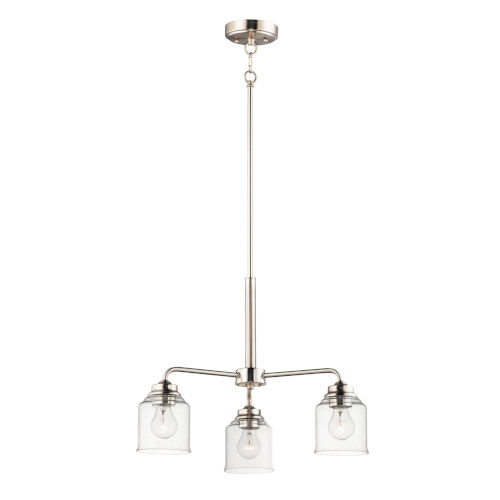 Acadia Satin Nickel Three-Light Chandelier