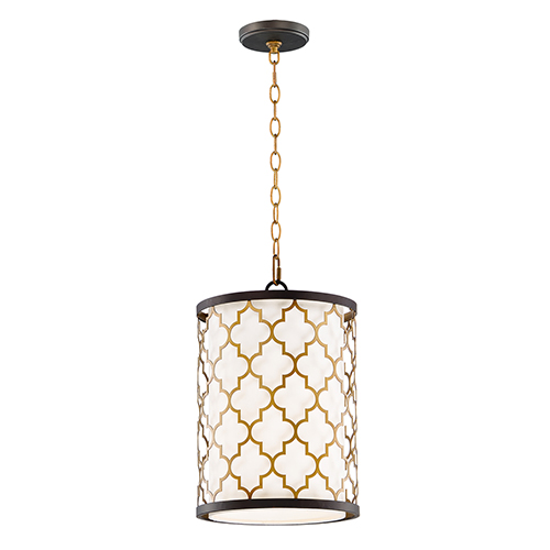 Crest Oil Rubbed Bronze and Antique Brass 10-Inch LED Pendant