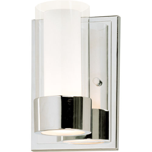 Silo Polished Chrome Five-Inch LED Wall Sconce