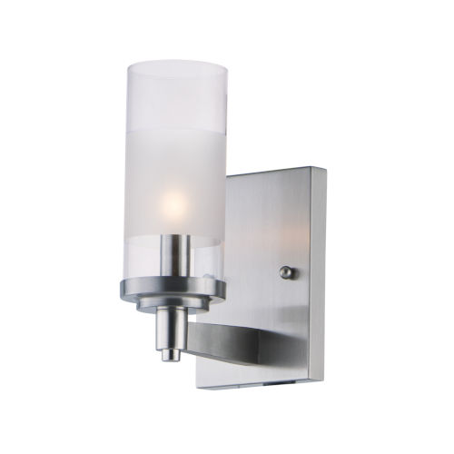 Crescendo Satin Nickel Four-Inch One-Light Wall Sconce