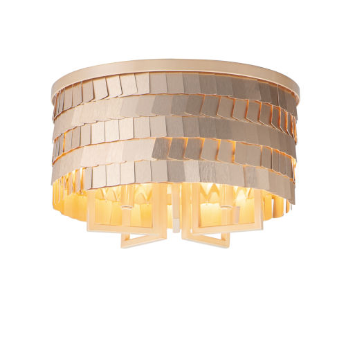 Glamour Champagne and Gold Five-Light Flush Mount
